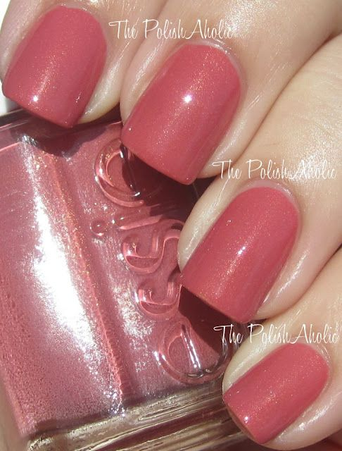 Essie All Tied Up...just ordered-looking forward to this one!****Jan. 2015-this is very pretty-the gold undertones are very subtle but gives a pretty gleam to the polish. This is a nice neutral as it is not too pink.