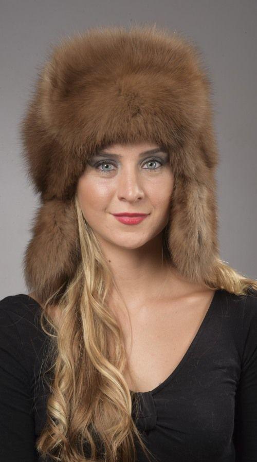 Cappello pelliccia zibellino naturale, stile russo.  www.amifur.com
