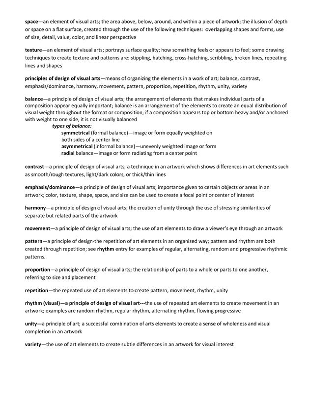 elements and principles of art handout fashion
