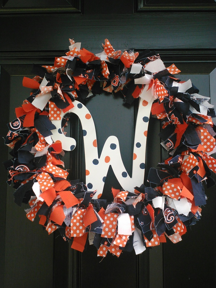 For my Boss Auburn Tigers Personalized Fabric Wreath