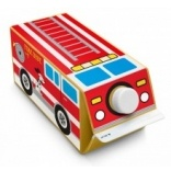 The fire truck is a multi-panel design. It comes with 4 separate stickers - top, 2 sides and a back.