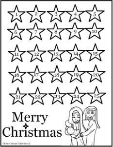 Printable Nativity Advent Calendar