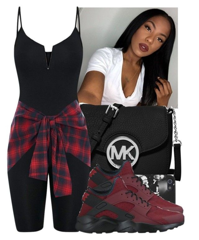 """"""""""" by wavyjai ❤ liked on Polyvore featuring MICHAEL Michael Kors, NIKE and River Island"""