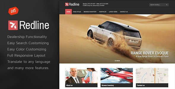 Redline - Responsive Car Dealer WordPress Theme