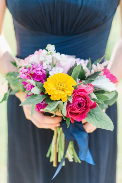 Bright bridesmaid bouquet: http://www.stylemepretty.com/georgia-weddings/douglasville/2015/03/20/whimsical-georgia-summer-wedding/ | Photography: Rustic White - http://www.rusticwhite.com/