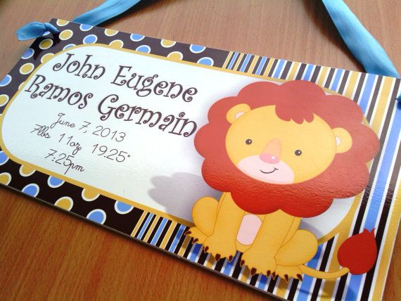 personalized our king birth announcement door sign by kasefazem, $15.99