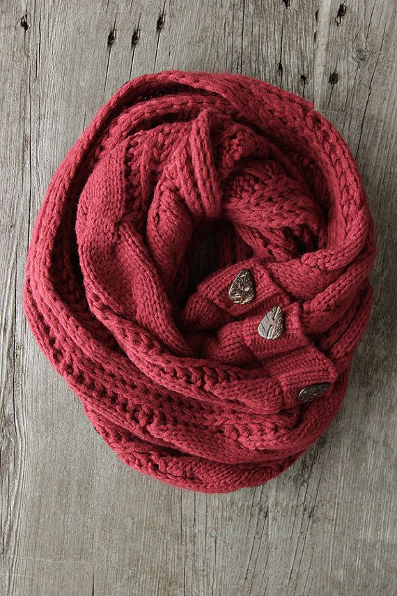 SALE The Perfect Scarf ™  Cranberry Infinity Scarf by northernly