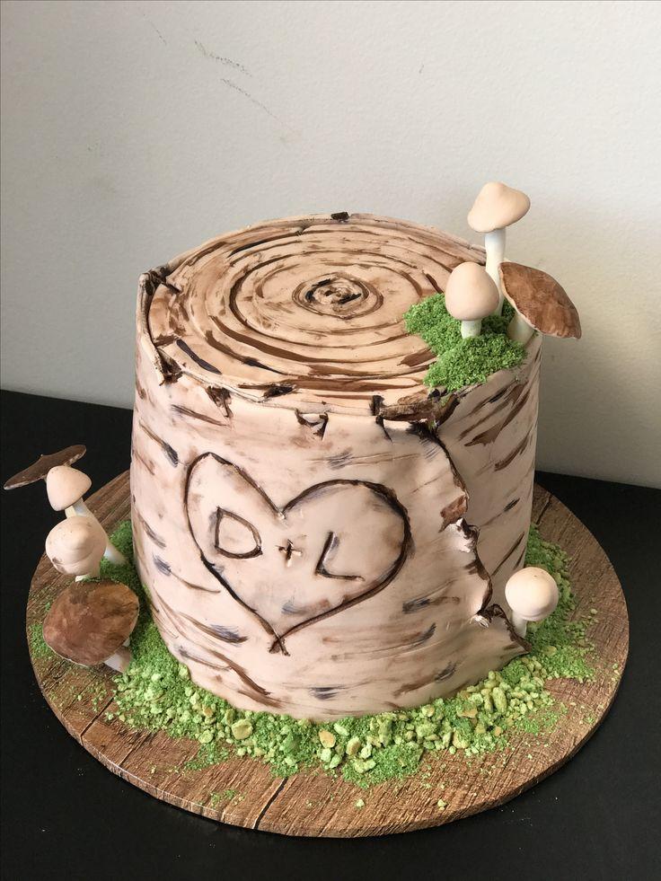 Tree Stump LOVE Cake ❣️