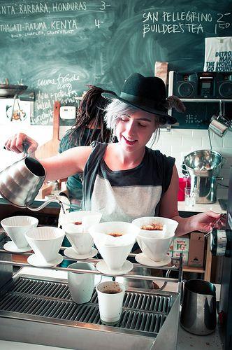 Barista, Astro Coffee, Detroit, Michigan