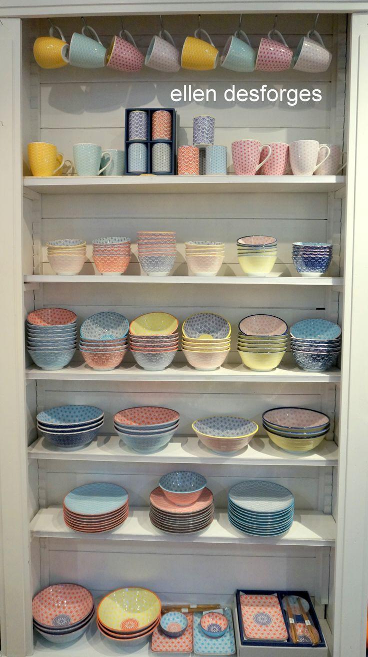 """vaisselle colorée japonaise """"star wave"""" bols, assiettes, saladiers,mugs ,plats à sushis"""