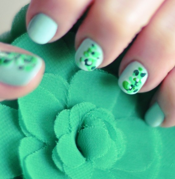 Saint Patricks Day ManicureNails Art Tutorials, Cute Nails, New Nails, St Patricks Day, Nails Decor, Green Nails, Nail Art, Minty Green, Diy Nails