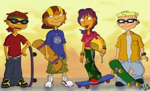 Rocket Power! Jonny Used To Like That Reggie's My Favorite Because She Has Purple Hair