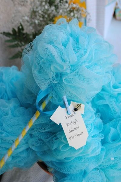 Shower Poofs in Pink or Blue