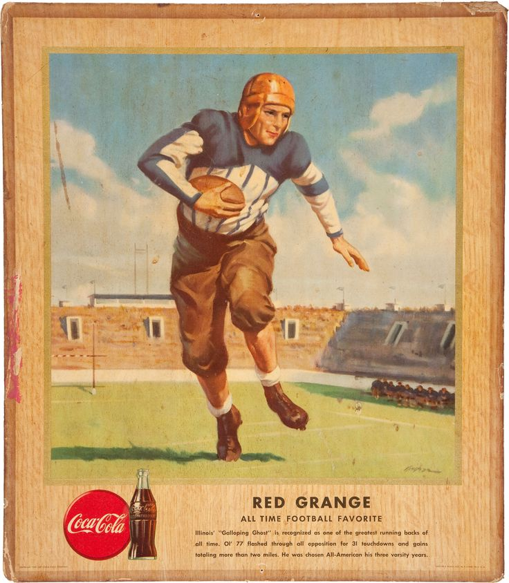 Image of 1947 Red Grange Coca Cola Advertising Broadside....