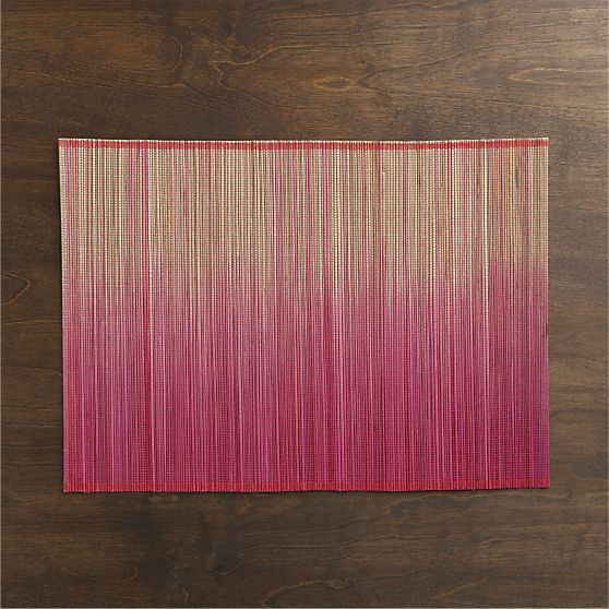 Oxley Pink Placemats, Set of Four | Crate and Barrel
