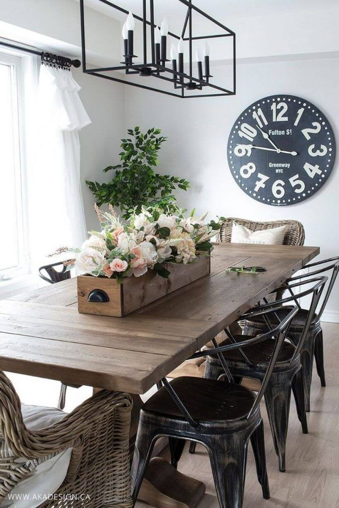 36 Farmhouse Lighting Ideas To Brighten Up Your Space In A Charming Way Farmhouse Dining Rooms Decor Farmhouse Dining Room Table Modern Farmhouse Dining Room Decor