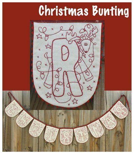 """""""Christmas Bunting"""" designed by Rosalie Dekkar for Rosalie Dekkar Designs."""