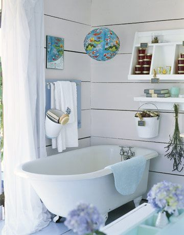 How To Decorate A Bathroom With Recycling, You Must Try It! Small Cottage  BathroomsBlue BathroomsIdeas ...