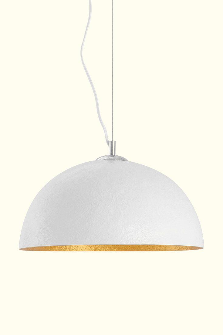 Pendant light Mercurio White/Gold. #lights #interior