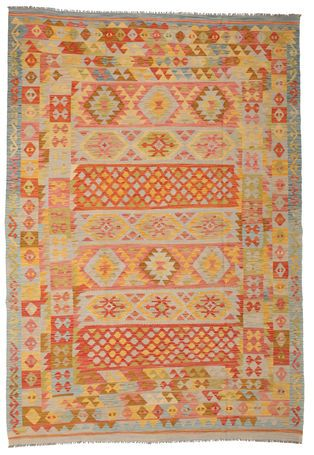 Kilim Afghan Old style carpet 200x289