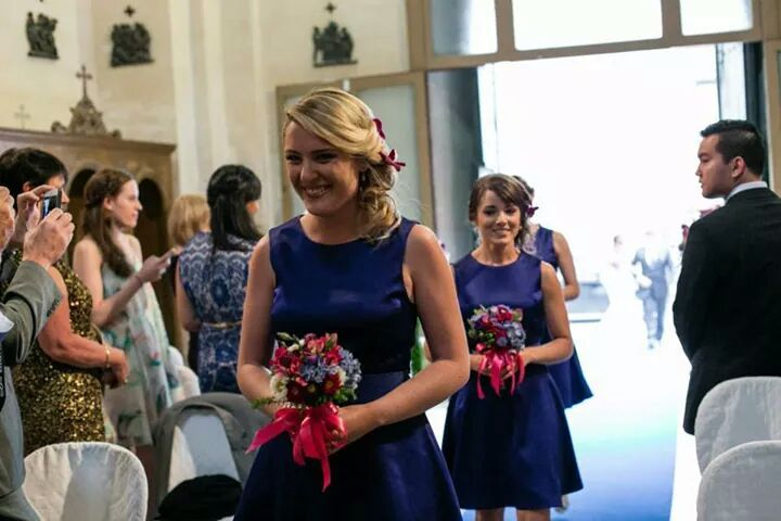Charming bridesmaids.  Civil wedding in Lecce, Puglia. by Michela & Michela wp www.italianweddingcompany.com
