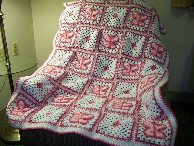 Butterfly Crochet Afghan Pattern Free : Ravelry: Crochet Butterfly Afghan pattern by Mary Jane ...