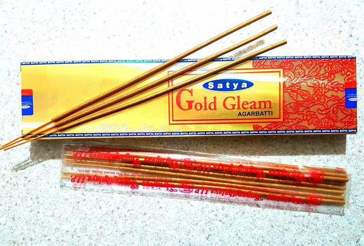 Satya Deluxe Gold Gleam Incense, AU$5.00