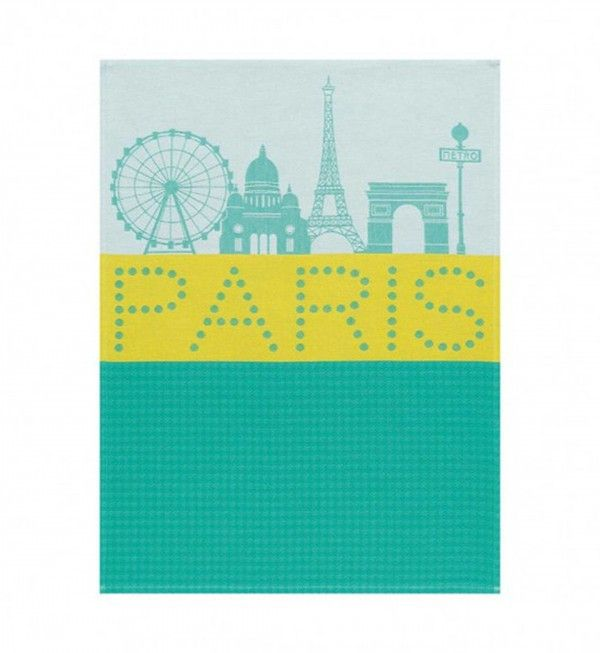 Paris Lumière Green Towel NEW!