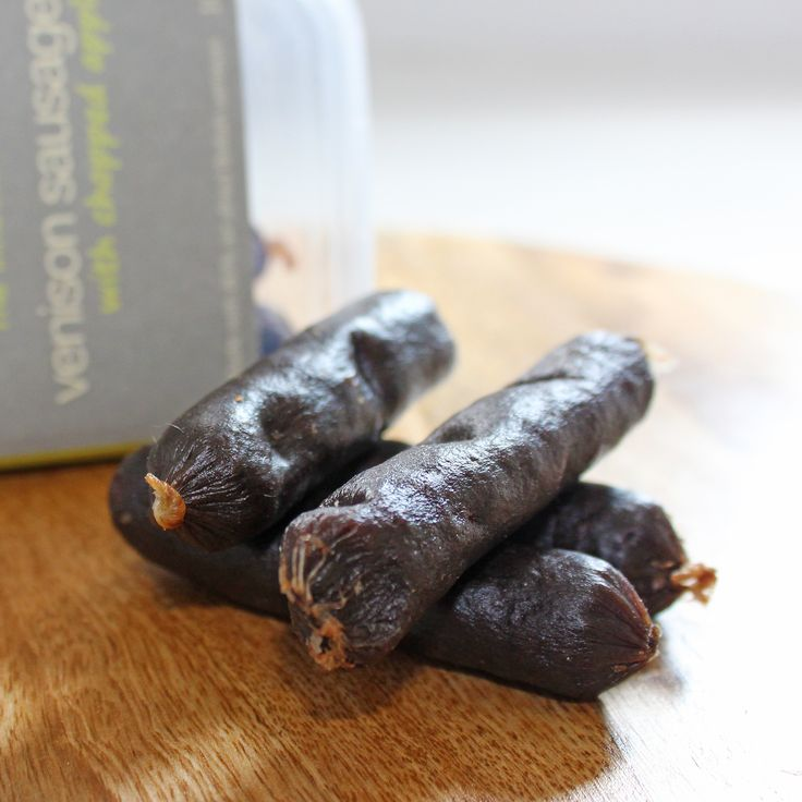 The Innocent Hound grain-free venison sausages with apple. Hypoallergenic – no wheat, gluten, soya or dairy. Made in the UK.