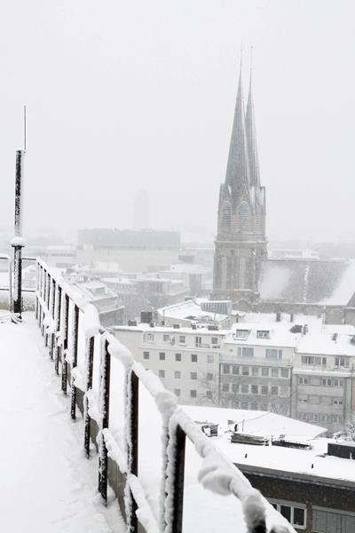 On top of the roofs of düsseldorf