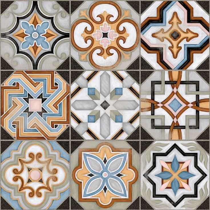 SAMPLE Victorian Central Patterned Ceramic Floor Tile (NOT FULL TILE) in Home, Furniture & DIY, DIY Materials, Flooring & Tiles | eBay