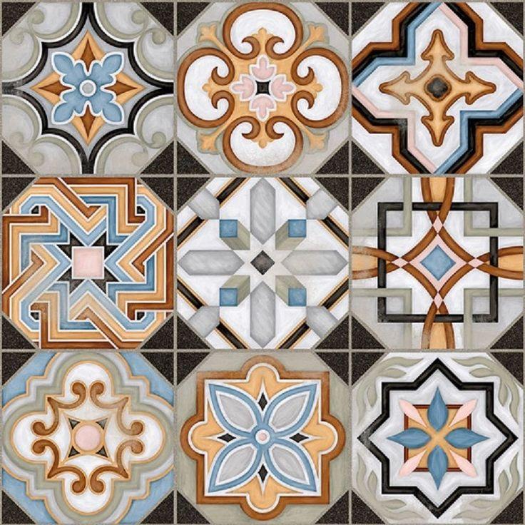 SAMPLE Victorian Central Patterned Ceramic Floor Tile (NOT FULL TILE) in Home, Furniture & DIY, DIY Materials, Flooring & Tiles | eBay