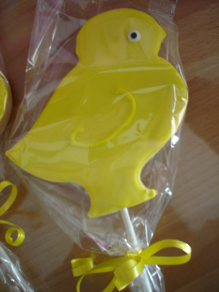 Chick on a stick Sugar Cookie