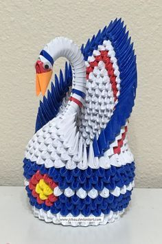 3d Origami Colorado State Swan By Jchaudeviantart On DeviantArt