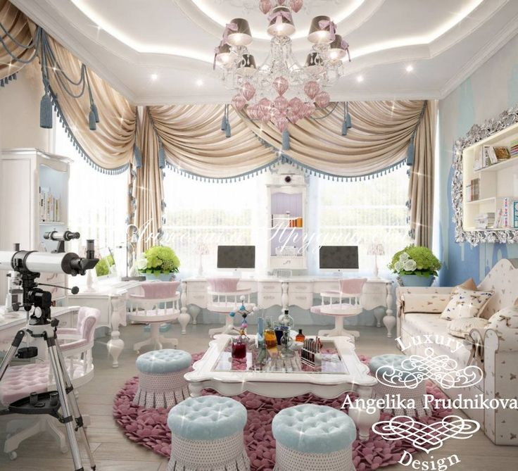 Дизайн интерьера комнаты для занятий - фото