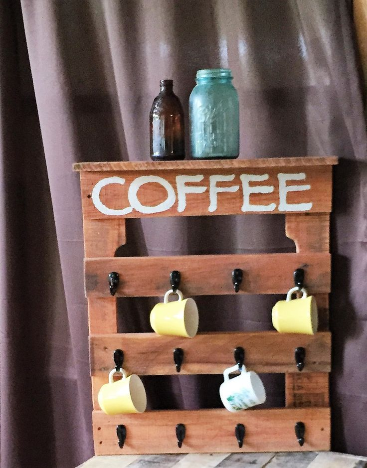 Coffee Mug Holder (with shelf)