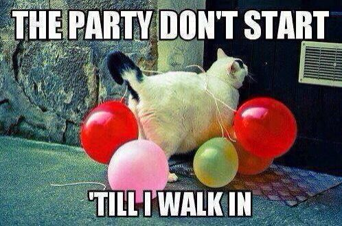 The party don't start till I walk in