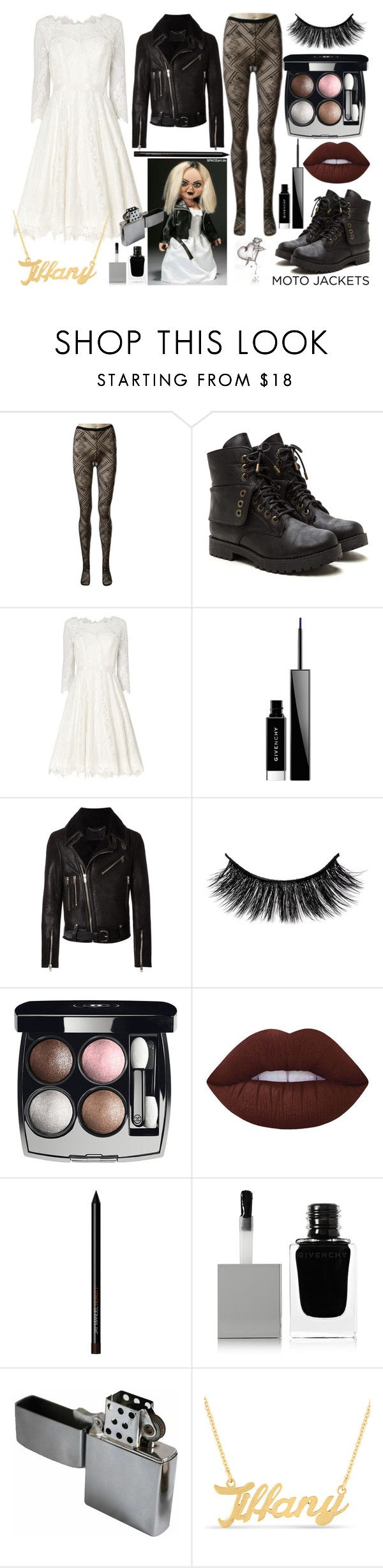 """Bride Of Chucky"" by quinn-avina ❤ liked on Polyvore featuring Chanel, Phase Eight, Givenchy, Diesel Black Gold and Lime Crime"