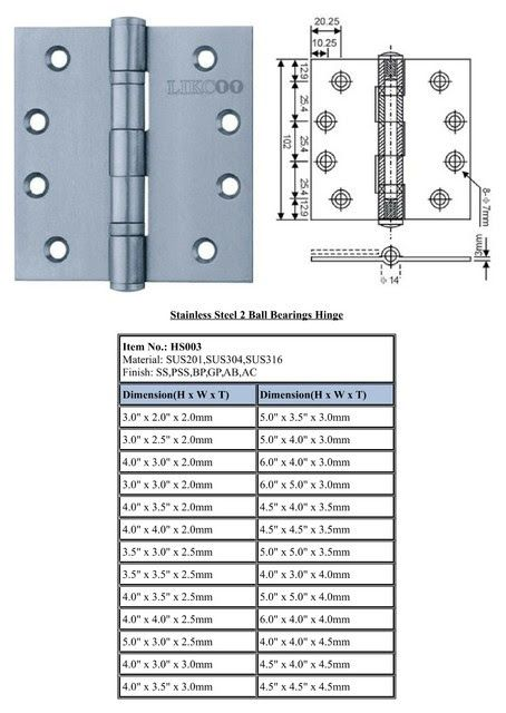 Stainless Steel Hinges UL Standard - Industrial - Hinges - vancouver - by HS Door