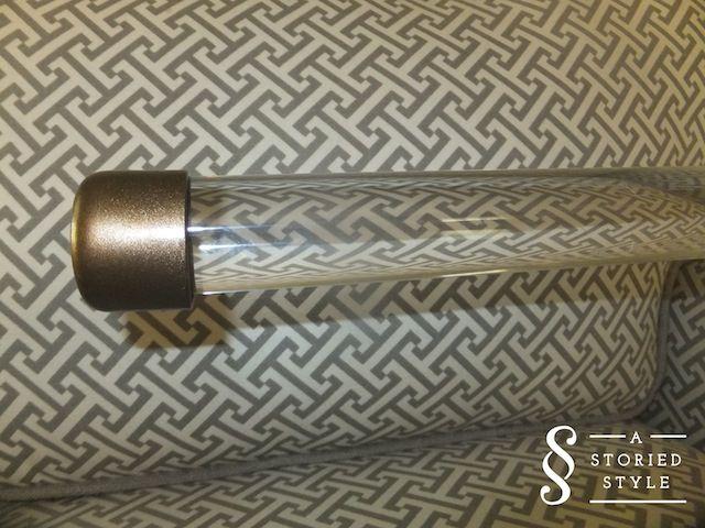 DIY Tutorial: Acrylic Drapery Rods | July 20, 2012 | astoriedstyle.com