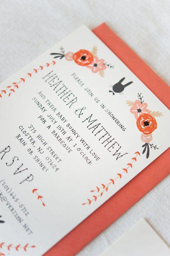 Baby Shower Invitation et carte de Registre par KelliMurrayArt