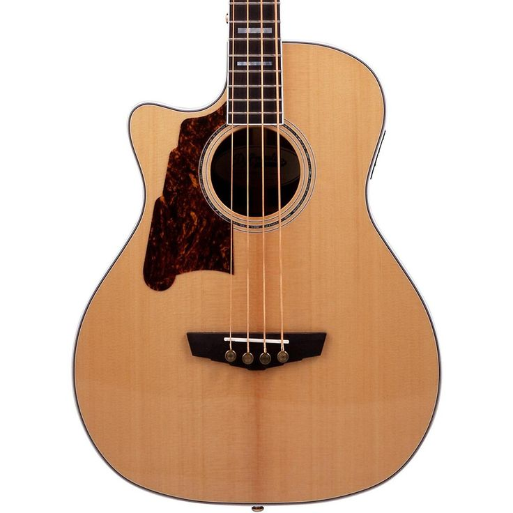 D'Angelico Excel Mott Left Handed Acoustic Bass Guitar Natural