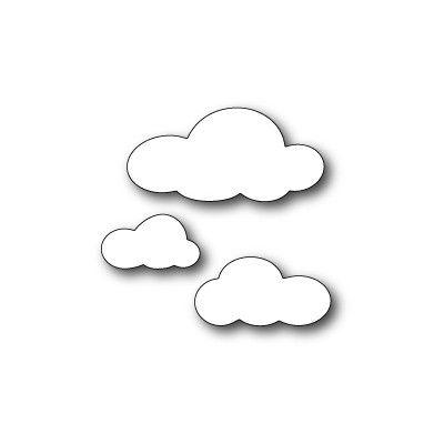 Die Poppystamps - Fluffy Cloud Trio