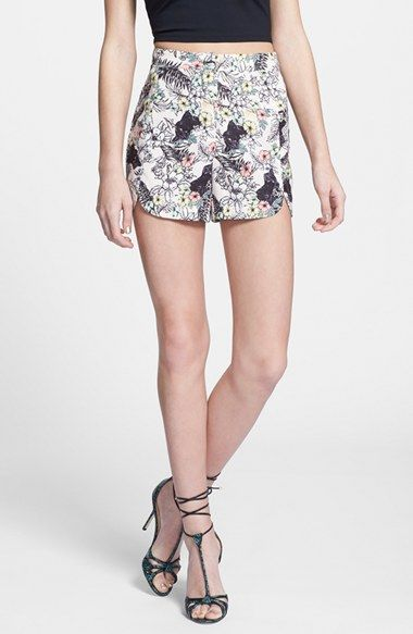 Re-Named re:named Cat Print High Rise Shorts available at #Nordstrom