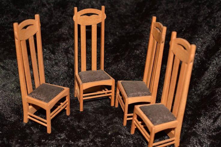 Charles Rennie Mackintosh dining chair by Dolls House Emporium 1 only | eBay