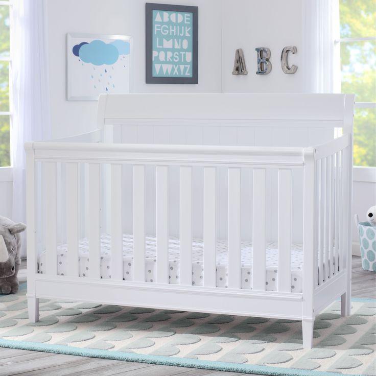 Delta Children New Haven 4-in-1 Convertible Crib, Bianca (Standard Crib), White