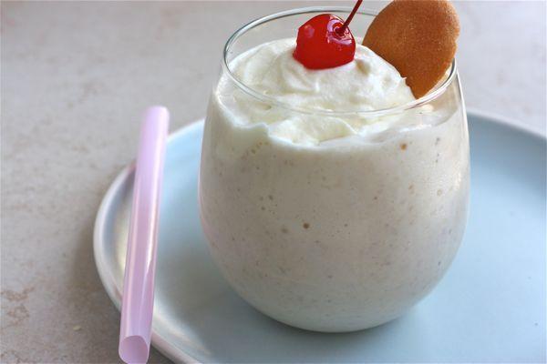 Roasted Banana Pudding Milkshake