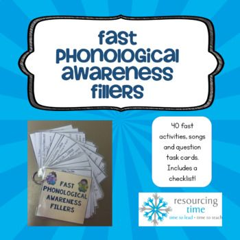 Fast Phonological Awareness Fillers PLUS Checklist