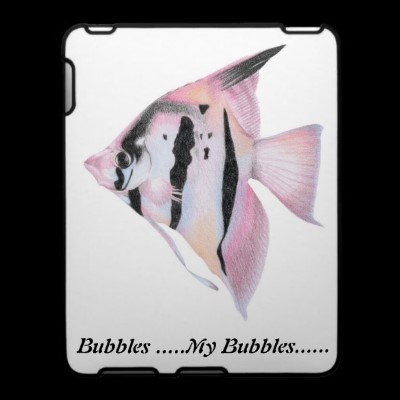 Hand drawn Angel fish iPad Covers