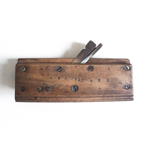 French Wooden Plane, Moulding Plane, Wood Planer, Primitive Tool,  Carpenter's Tool, Joiner's Tool, Cabinetmaker, Farmhouse, Countryside Deco $73.55